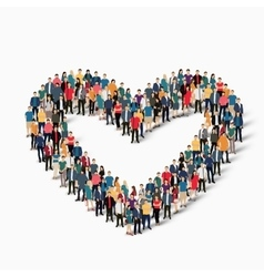 heart love people sign vector image