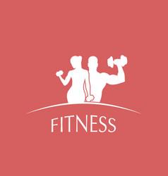 logo fitness club vector image