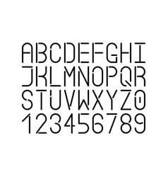 modern single line font uppercase letters vector image