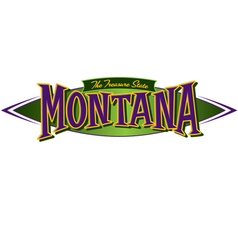 Montana The Treasure State vector image vector image