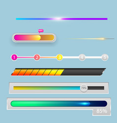 progress loading bar indicators download progress vector image vector image