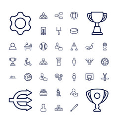 37 team icons vector