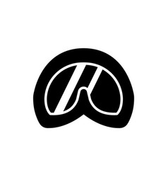 abstract diving goggles flat logo icons black vector image
