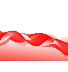 Abstract Red Wave on Background vector