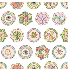 abstract seamless pattern in doodle style with vector image