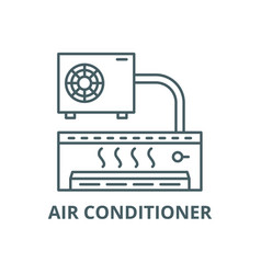 air conditioner line icon air conditioner vector image