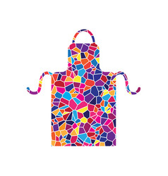 Apron simple sign stained glass icon on vector
