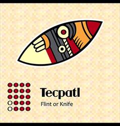 Aztec symbol Tecpatl vector image