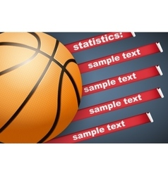 Background of Statistics Basketball vector