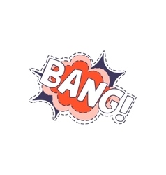 Bang Bright Hipster Sticker vector