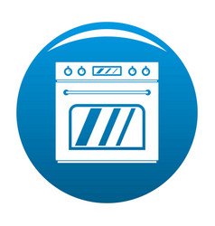 Big gas oven icon blue vector
