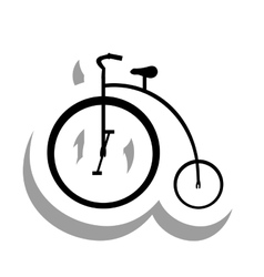 Bike or bicycle pictogram icon image vector
