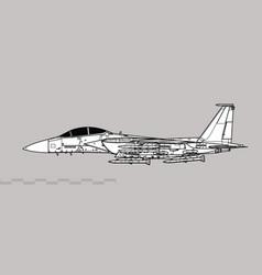 Boeing f-15ex eagle ii vector