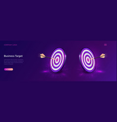 business target isometric dart board with arrow vector image