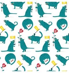 Cartoon monster dogs seamless pattern vector