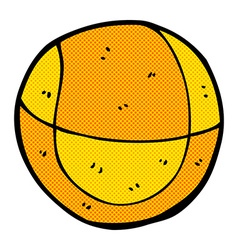 comic cartoon basketball vector image