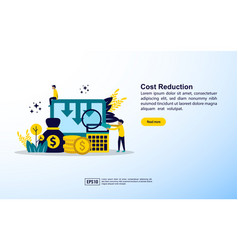cost reduction concept business cost reduction vector image