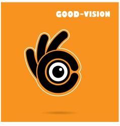 Creative hand icon abstract logo design vector