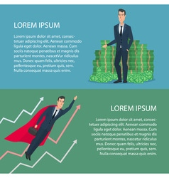 Currency growth Cartoon poster Banners for your vector image