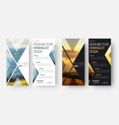 design of a flyer in a minimalist style with a vector image