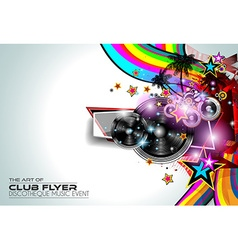 Disco Flyer Art for Music Event backgrounds vector