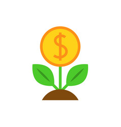 dollar tree flat icon vector image