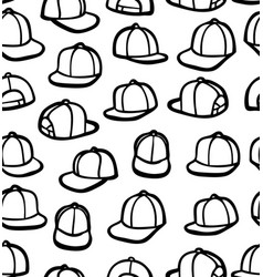 doodle snapbacks vector image