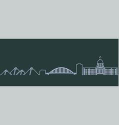 edmonton single line skyline profile vector image