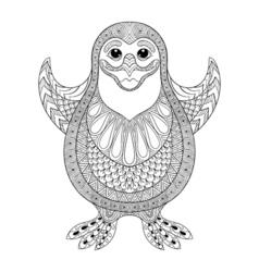 entangle stylized penguin cheerful penguin vector image