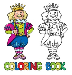 Fairy tale king Coloring book vector