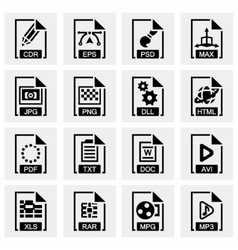 File type icon set vector