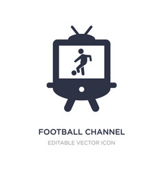 Football channel icon on white background simple vector