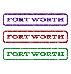 Fort worth watermark stamp vector