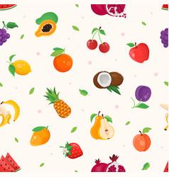 Fresh fruit - modern colorful seamless pattern vector