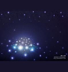 galaxy of futuristic technology geometric dark vector image