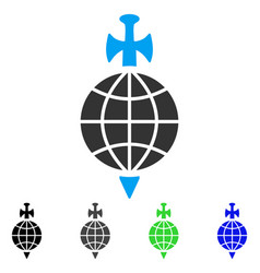Global guard flat icon vector