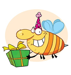 Grinning Bumbe Bee With A Stinger vector image