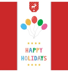 Happy holidays12 vector image