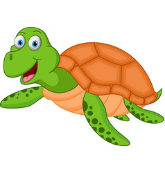 Happy turtle cartoon vector