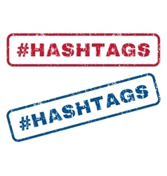 Hashtag Hashtags Rubber Stamps vector