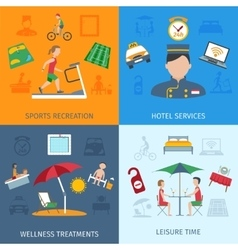 Hotel services set vector