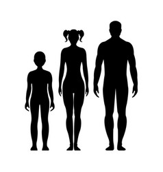Human front side silhouette vector