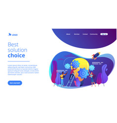 Idea management concept landing page vector