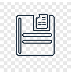 Insert concept linear icon isolated on vector