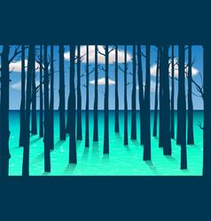 landscape mangove forest in daytime vector image