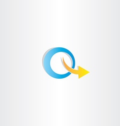 Letter q arrow logo icon vector