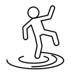 Man flood icon outline style vector