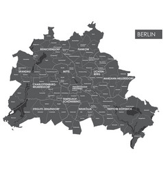 map berlin district vector image