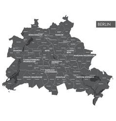 Map berlin district vector