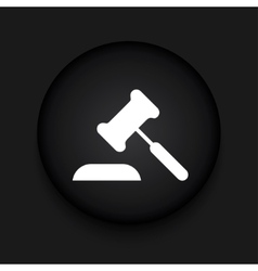 modern courthouse black circle icon vector image